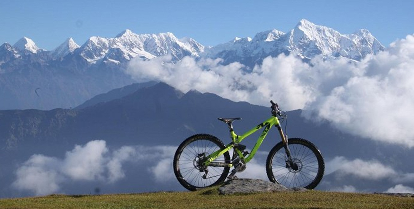 Mountain biking to mustang