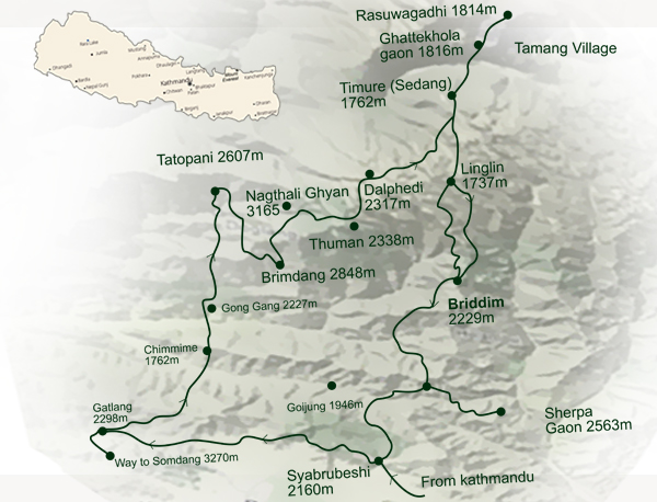 Tamang Heritage Trek Route Map