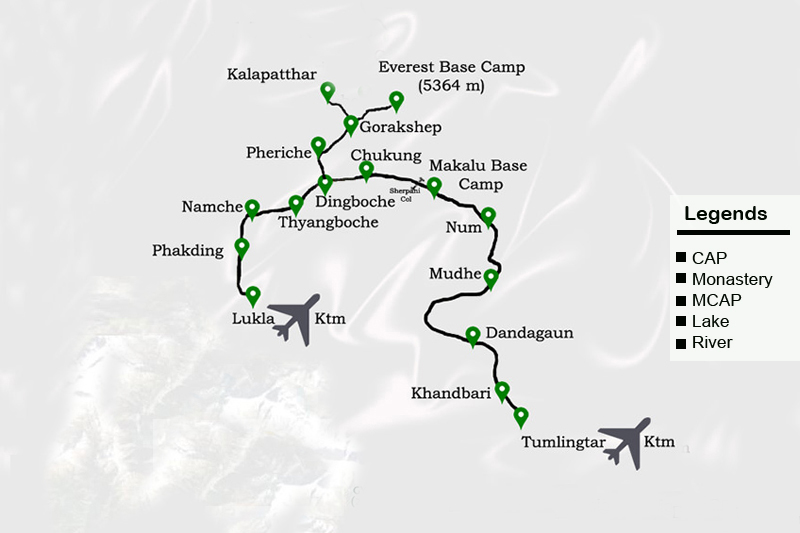Makalu Base Camp Trek Route Map