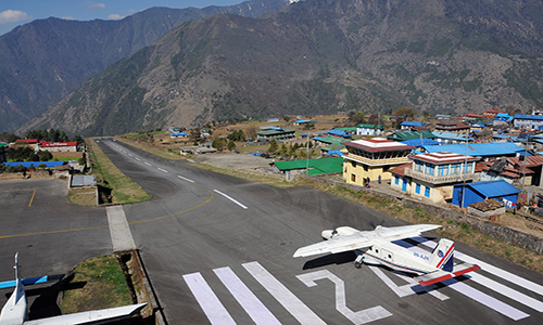 Fly from Kathmandu to Lukla and trek to Phakding