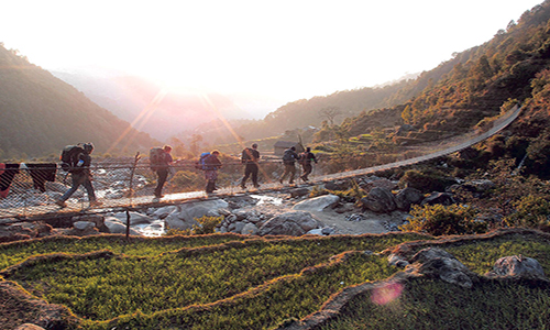 Trek from Thadepati to Tarke Ghyang