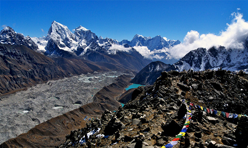 Trek from Gokyo to Gokyo-Ri to Machhermo